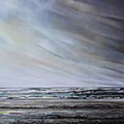 Storm Over Hauxley Haven Northumberland 1 Art Print