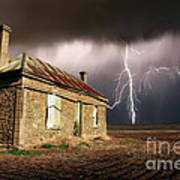 Storm Over Ruin Art Print by Shannon Rogers