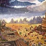Storm Over The Desert Art Print
