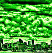 Storm Over The Emerald City Art Print by David Patterson