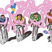 Storm Rider-me Vs Me By Will A.k Art Print