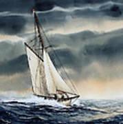 Storm Sailing Art Print
