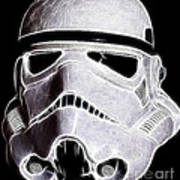 Storm Trooper Helmet Art Print