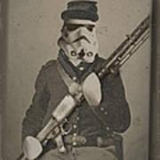 Storm Trooper Star Wars Antique Photo Art Print by Tony Rubino