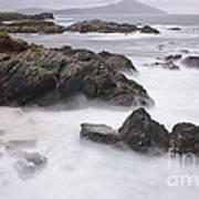 Storm Waves And Cliffs Art Print
