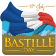 Storming Of The Bastille Representation Art Print