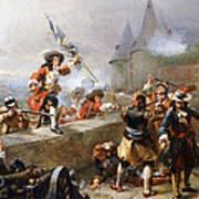 Storming The Battlements Art Print
