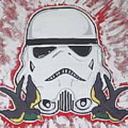 Stormtrooper Tattoo Art Art Print by Gary Niles