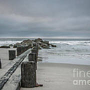 Stormy Beach Forcast Art Print