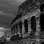 Stormy Colosseum Art Print