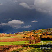 Stormy Countryside Art Print