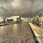 Stormy Day At Alphen Aan Den Rijn Art Print