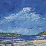 Stormy Day At Picnic Island Art Print