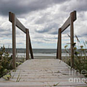 Stormy Day - Boardwalk To The Sea Art Print