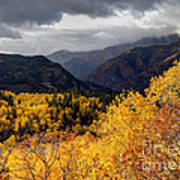 Stormy Fall Along The Alpine Loop - Utah Art Print