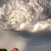 Stormy Homestead Barn Art Print by Thomas Zimmerman