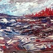 Stormy Lake Abstract Art Print