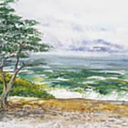 Stormy Morning At Carmel By The Sea California Art Print