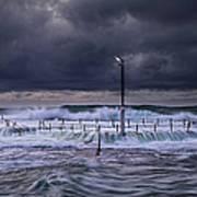 Stormy Ocean, Monavale Beach, Australia Art Print