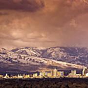 Stormy Reno Sunrise Art Print