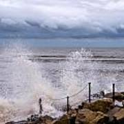 Stormy Seafront  Art Print