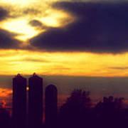 Stormy Silhouette Sunset Art Print