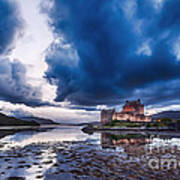 Stormy Skies Over Eilean Donan Castle Art Print