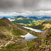 Stormy Skies Over Snowdonia Print by Jane Rix