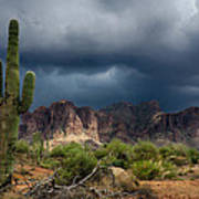 Stormy Skies Over The Superstitions Art Print
