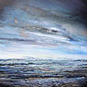 Stormy Sky  Hauxley Haven Series Blue Art Print