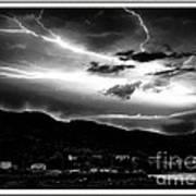 Stormy Sky - Lightening - Small Town Art Print