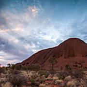Stormy Sky Over Uluru Art Print