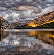 Stormy Sunset At Tenaya Art Print
