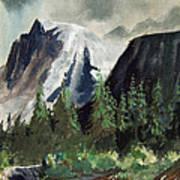 Stormy Waterfall Art Print