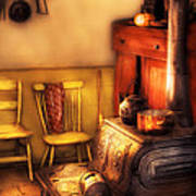 Stove - An Old Farm Kitchen Art Print