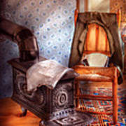 Stove - The Stove And The Chair  Art Print by Mike Savad