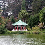 Stow Lake Chinese Pavilion Art Print