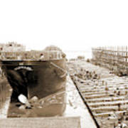 Str. Harvard In The Slip, Detroit, Harvard Freighter, Cargo Art Print