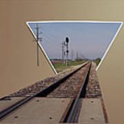 Straight As A Rail Art Print