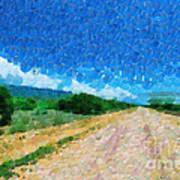 Straight Road In Ethiopia Painting Art Print