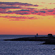 Straitsmouth Lighthouse Sunrise Art Print
