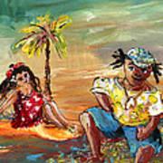 Stranded In Tahiti Art Print