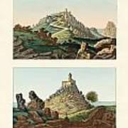 Strange Abbeys In Portugal Art Print by Splendid Art Prints