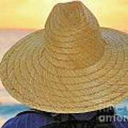 Straw Hat Art Print