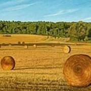Straw Wheels - North Pickering Art Print by Allan OMarra