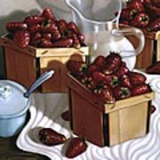 Strawberries And Cream 1997 Art Print