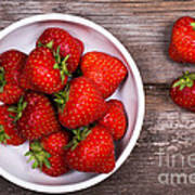 Strawberries Art Print by Jane Rix