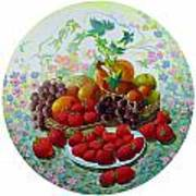 Strawberry And Grapes Art Print