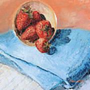 Strawberry Bowl Art Print