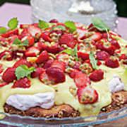 Strawberry Cake, Close-up Art Print